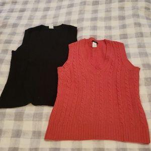 Jcrew wool orange sweater vest size XS